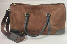 Marlboro Gear 2003 Brown Suede Leather Overnight Weekender Duffel Bag Luggage