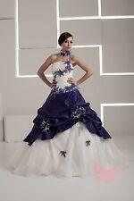 dunkel lila Abiball/Ball/Hochzeitskleid Braut Abendkleid Size6, 8,10, 12,14, 16