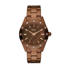 Donna Karan Women's Brown Glitz Mother Of Pearl Dial Watch NY8663