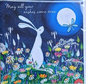 wishes come true birthday greetings card hare friend pagan spiritual daughter