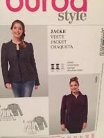 Burda Sewing Pattern 7033 Ladies Misses Jacket Size 18-28 Uncut