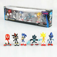 6 PCS Sega Sonic The Hedgehog Action Figure Collection PVC Toy Kid Gift With Box