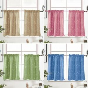 1PC Opaque Solid Kitchen Curtains Choice of Tier Valance or Swag Assorted Sizes