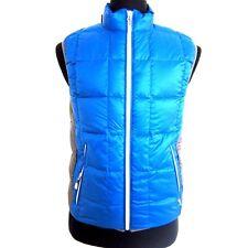 R-515200 New Burberry Sports Spectrum Blue/Gray Duck Down Zipped Vest Size L