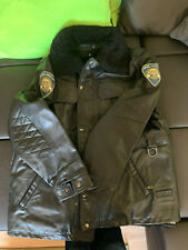 Lederjacke Polizei Gr. 52 Bikerjacke Motorradjacke echtes schweres Leder m. Fell