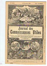 JOURNAL 1894 GUERISON DU CROUP ARMOIRE LIT TOILETTE TRAVAUX D'INTERIEUR DAMBLANS