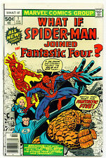 (1977) WHAT IF? #1 SPIDER-MAN! FANTASTIC FOUR! 7.5 / VERY FINE-