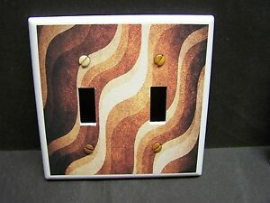 WAVY BROWN  TONES MODERN HOME DECOR   IMAGE LIGHT SWITCH COVER PLATE OR OUTLET