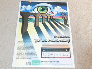 Sansui Quad QRX-6500, 3500 Empfänger Ad, 1975, Artikel, Schöne! 1 Page