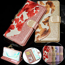 Bling Glitter Leather Flip Wallet Case Cover For Samsung Galaxy Note 10/S10+/S9