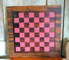 Primitive Old Paint Checkers Checker Game Board Vintage Wood Wooden Painted
