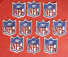 10 Lot Vintage NFL Collar Shield Jersey Sew On Hat Jacket Hoodie Patches Crests