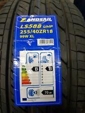 2X NEW CAR TYRES LANDSAIL LS588 UHP 255/40 ZR18 XL 99W A/W QUALITY 255 40 18 B+B