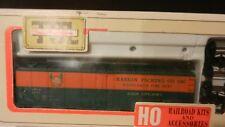 Train Miniature HO Vintage Raskins Packing Co. Steel Reefer Kit, NIB
