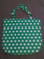 Tote Bag Handmade Soccer Balls Green NEW! Books Daycare Toys Games NEW! Pockets