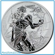 2020 Tuvalu Gods Of Olympus - Zeus - 1 oz Silver BU Encapsulated - Perth Mint