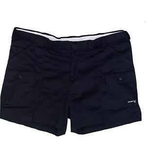 "Sportif USA Original Cargo Shorts 670170 Mens Black Stretch Size 44 Inseam 5.5"""