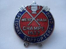 1937 West Ham Speedway gioco sostenitori Club Champs 1937 smalto pin badge