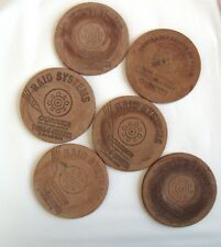Vintage Leather Coasters; 5 from from The Conner Company; 1 Extra