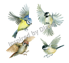 Transparent wall, furniture sticker, decal, birds, sparrows, from UK, 184