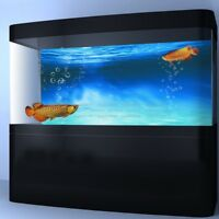 Aquarium Background Poster Blue Ocean PVC Self-adhesive Fish Tank Backdrop