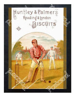 Historic Huntley & Palmers biscuits Cricket 1900s Advertising Postcard