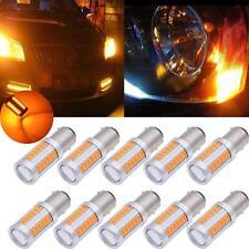 10pcs Amber 1157 BAY15D 5730 33SMD LED Turn Tail Brake Stop Signal Light Bulb