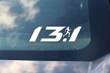 13.1 Half Marathon Decal Vinyl Sticker Man Woman Runner  Running Run Jogging