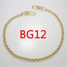 "k-craft Purse chain strap Gold 7.5mm x 115cm(45"") handle crossbody handbag metal"