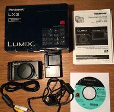 PANASONIC Digital Camera  LUMIX DMC-LX3 10.1MP Digital Camera  Black