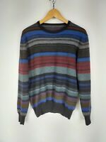 FRED PERRY MAGLIONE CASUAL 100% LANA Cardigan Sweater Pullover Tg S Uomo Man