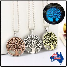 Fashion Luminous Glow In The Dark Hollow Tree of Life Locket Necklace Pendant G