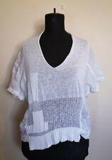CREA CONCEPT white asymmetric lagenlook arty quirky unusual top Size 38