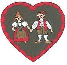 German Hansel Gretel Heart Embroidery Patch