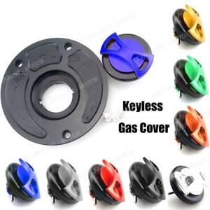 ZX6RR 04-16 CNC Aluminum Billet Keyless Twist off Gas Fuel Tank Cap Cover For Kawasaki ZX6R 04-16//636 ZX636R 04-16