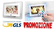 CORNICE DIGITALE 7'' USB FOTO VIDEO MP3 JPG SD AVI TELECOMANDO BIANCA O NERA