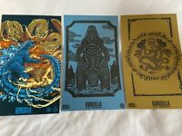 "Godzilla 65th Anniversary 3 Art Prints Loot Crate 6"" x 10"" New King Of Monsters"