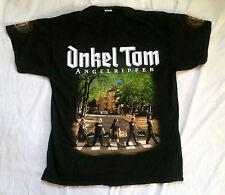 ONKEL TOM ANGELRIPPER TEE SHIRT BLACK XL BEATLES PARODIE Abbey Road