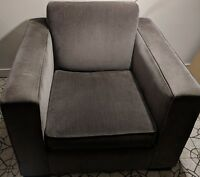 Room and Board charcoal gray Ian chairs (2) in excellent condition.