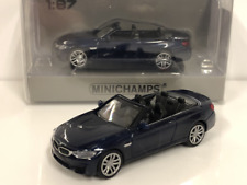 Minichamps 870027232 BMW M4 Cabrio 2015 Blue Metallic 1:87 Scale