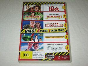 Hook + Jumanji + Small Soldiers + Thunderbirds + Flipper - VGC - Region 4 - DVD