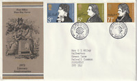 28 JULY 1971 LITERARY ANNIVERSARIES POST OFFICE FIRST DAY COVER BUREAU SHS