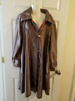 MYCRA PAC NOW Putter Copper Reversible Pleated Hood Rain Coat Jacket Sz 1 S M