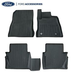 Genuine Ford Fiesta MK8 Front & Rear Black Rubber Floor Mats Tray Style 2017-