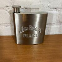 Jim Beam Black Stainless Steel Flask 6oz