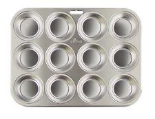 Fox Run 12 Standard Muffin Pan Bun Cake Mold Party Bakeware Stainless Steel 4868