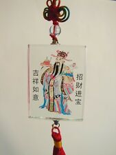Feng Shui Chinese Wealthy God Crystal Lucky Charm