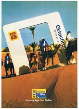 Kodak Ektachrome Diafilm. Original-Werbeanzeige 1989. Reklame Werbung. 100 HC