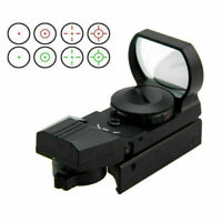 Hunting Green Red Dot Reflex Sight Holographic Scope 4Reticle 11/20mm Rail Mount