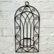 Gothic Metal Baroque Ornate Wall Outdoor Garden Wall Plant Flower Pot Holder A